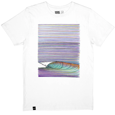 DEDICATED T-Shirt COLOR WAVE white