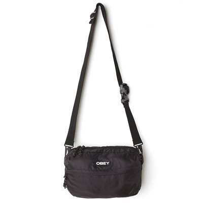 OBEY Shoulder Bag COMMUTER TRAVELER BAG black