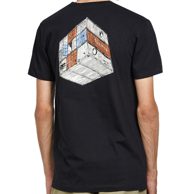 CLEPTOMANICX T-Shirt CONTAINER BACKPRINT black