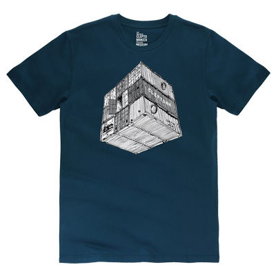CLEPTOMANICX T-Shirt CONTAINER mj blue