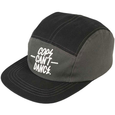 MR. SERIOUS 5Panel Cap COPS CAN'T DANCE black/grey
