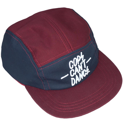 MR. SERIOUS 5Panel Cap COPS CAN'T DANCE maroon
