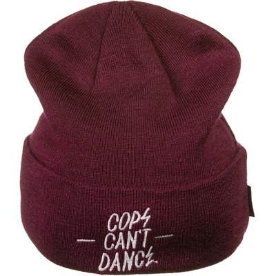 MR. SERIOUS Beanie COPS CANT DANCE maroon