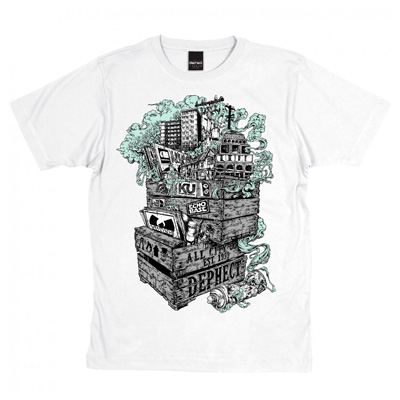 DEPHECT T-Shirt CRATES white