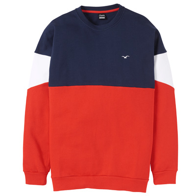 CLEPTOMANICX Sweater DROP 91 darknavy/red/white