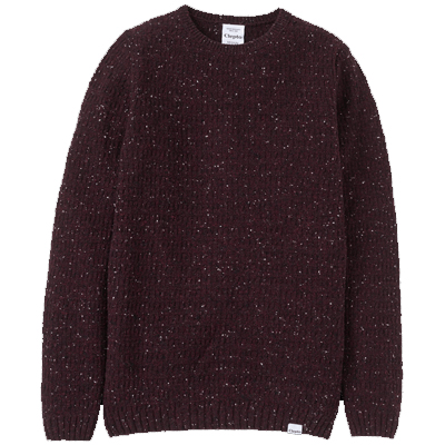CLEPTOMANICX Knit Sweater HEAVY SLUB merlot red