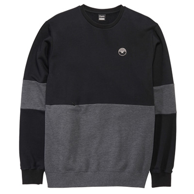 CLEPTOMANICX Sweater FIFTY-FIFTY PATCH black