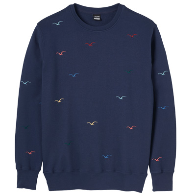 CLEPTOMANICX Sweater SEAGULL dark navy