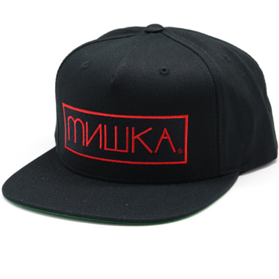 MISHKA Snap Back Cap CYRILLIC BOX black/red