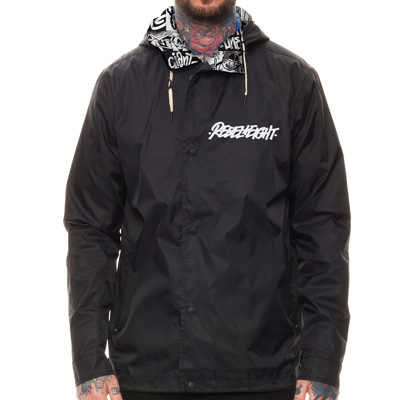 REBEL8 Regenjacke DEAD SET black