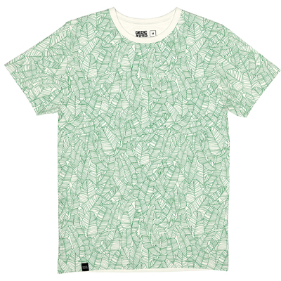 DEDICATED T-Shirt PALM LEAVES PATTERN offwhite