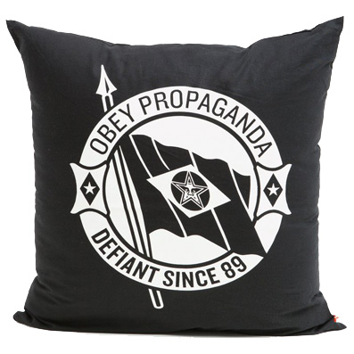 OBEY Pillow DEFIANT black