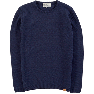 CLEPTOMANICX Knit Sweater DEM dark navy