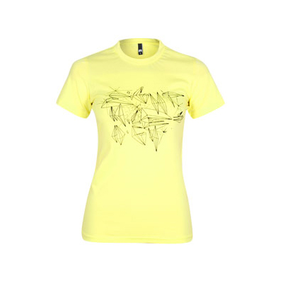 EIGHT MILES HIGH Girl Shirt DIAMONDS light lemon