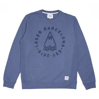LASER Sweater DIY LOGO steel blue