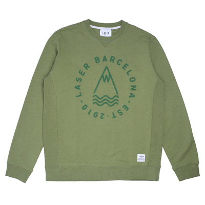 LASER Sweater DIY LOGO moss green
