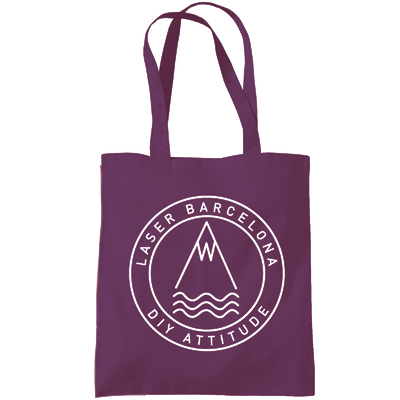 LASER Tote Bag OG LOGO burgundy/white