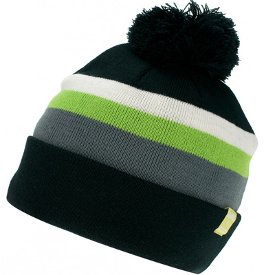 DJINNS Beanie MULTISTRIPE black/green