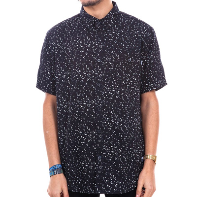 WRUNG Short Sleeve Shirt DOTS black