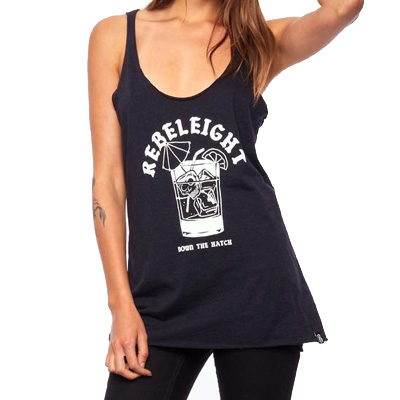 REBEL8 Girl Tank DOWN THE HATCH black