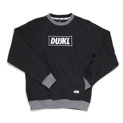 DURKL Sweater R LOGO CREWNECK black