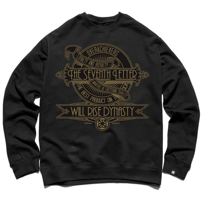 7TH LETTER Sweater DYNASTY black/gold