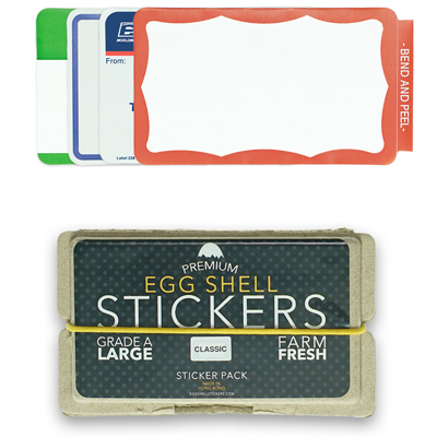 EGG SHELL Sticker Pack CLASSIC MIX (80 pcs)