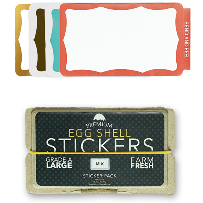 EGG SHELL Sticker Pack WAVY BORDER MIX (80 pcs)