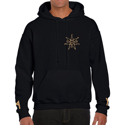 EGOKING Hoody RUNES 3 black/gold