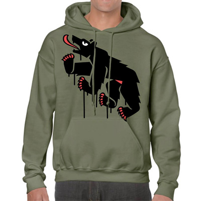 EGOKING Hoody MR. BEAR olive