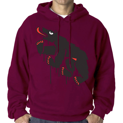 EGOKING Hoody MR. BEAR burgundy