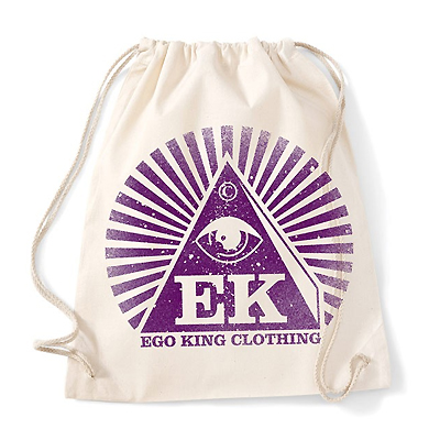 EGOKING Turnbeutel LOGO natural/purple