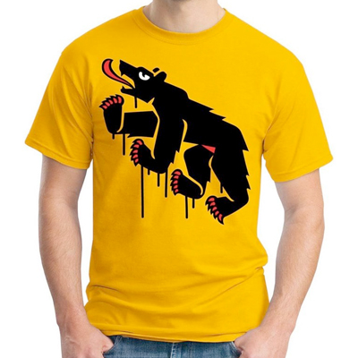 EGOKING T-Shirt MR. BEAR yellow