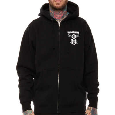 REBEL8 Hooded Zipper EIGHTERS black/grey