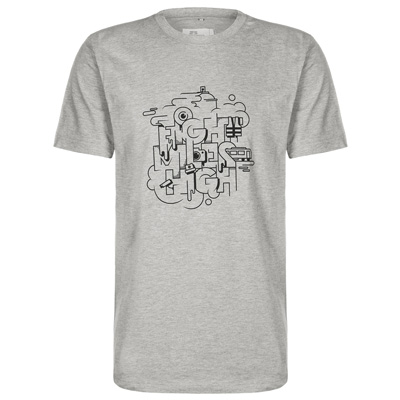 EIGHT MILES HIGH T-Shirt LIFESTYLE heather grey