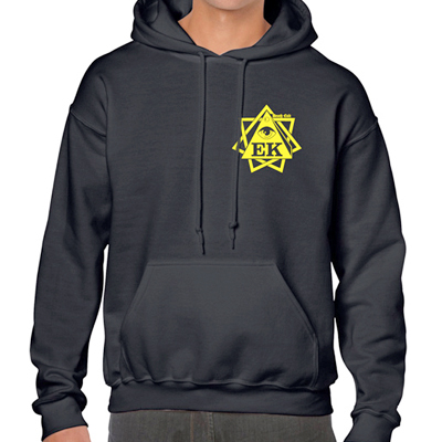 EGOKING Hoody LOGO 19 black/yellow