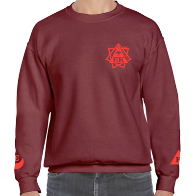 EGOKING Sweater DEATHSQUAD burgundy