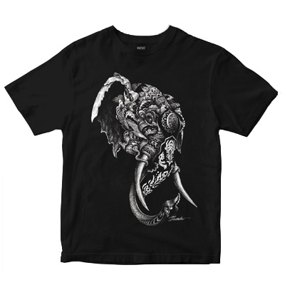 DEPHECT T-Shirt ELEPHANT black