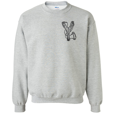 EULENEXPRESS Sweater SLINGSHOT heather grey