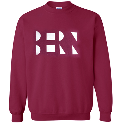 EULENEXPRESS Sweater BERN LETTERS burgundy