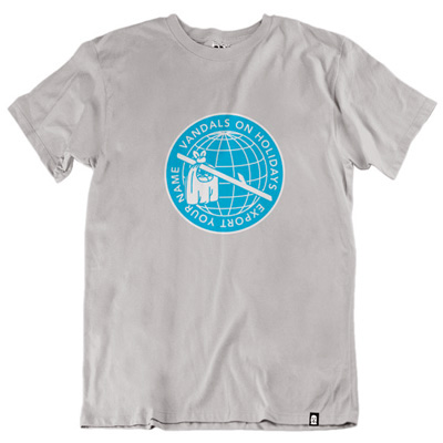 VANDALS ON HOLIDAYS T-Shirt EXPORT YOUR NAME stone grey