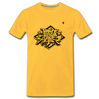 FARBTUBE T-Shirt yellow