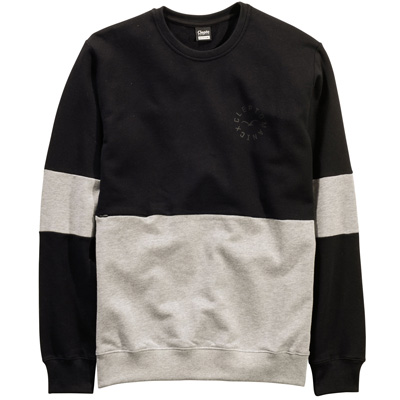 CLEPTOMANICX Sweater FIFTY-FIFTY black/grey