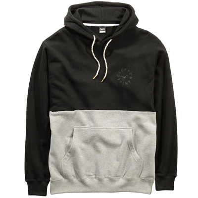 CLEPTOMANICX Hoody FIFTY-FIFTY black/grey