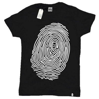 VANDALS ON HOLIDAYS Girl Shirt FINGERPRINT black