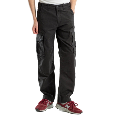 REELL Pants FLEX CARGO LC light canvas black