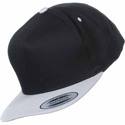 YUPOONG Classic 5 Panel Snapback silver/black