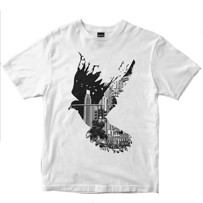 DEPHECT T-Shirt FLIGHTS white
