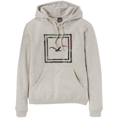 CLEPTOMANICX Girl Hoody FLORAL BOX heather creme