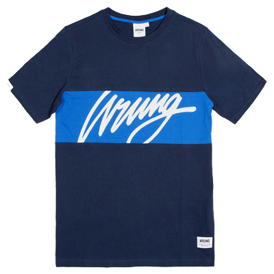 WRUNG T-Shirt FLOW navy/blue